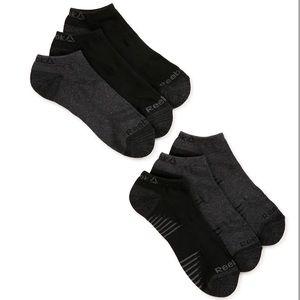New Reebok Men's Lowcut Sock, 6 Pack